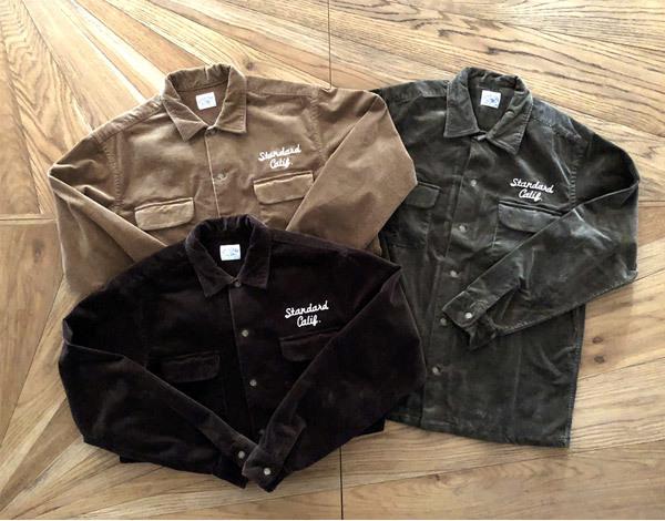 【DELIVERY】 STANDARD CALIFORNIA - Stretch Corduroy Shirt_a0076701_14180553.jpg