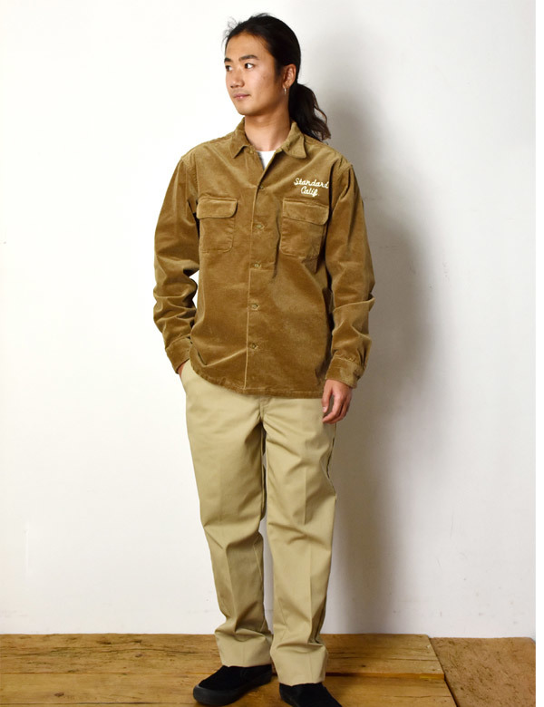 【DELIVERY】 STANDARD CALIFORNIA - Stretch Corduroy Shirt_a0076701_14270322.jpg