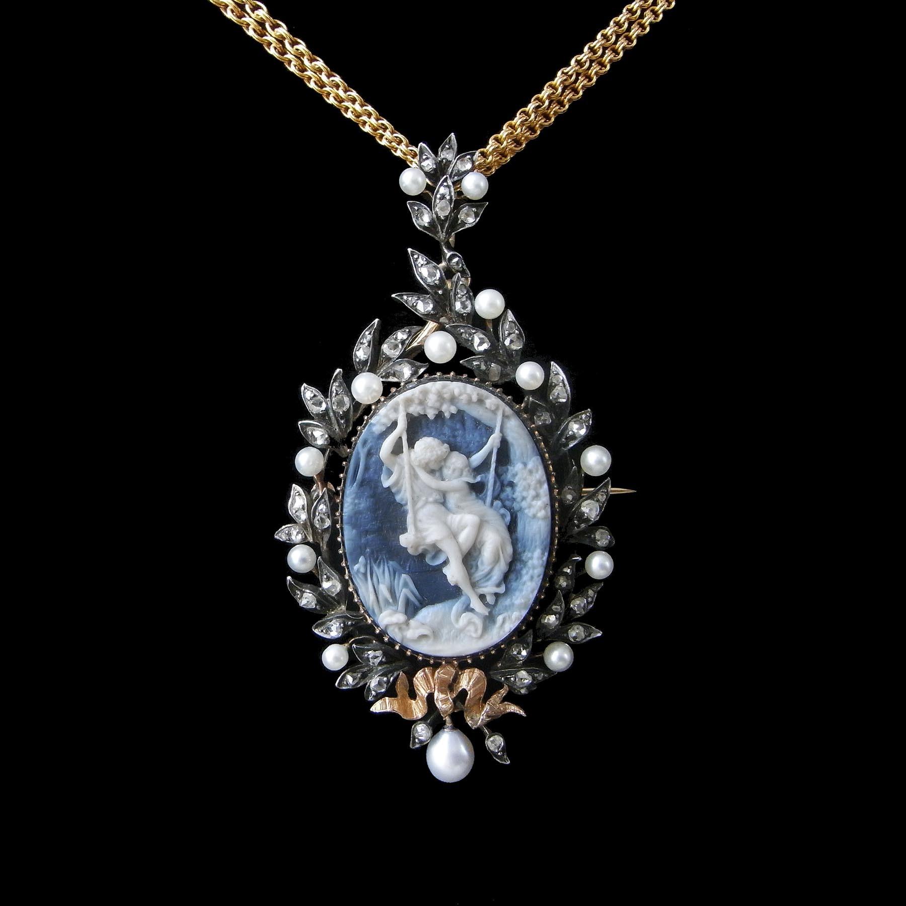 N°1223 ブシュロン 19世紀のアンティークペンダント・ブローチ - ◆ ルーヴルアンティーク ◆  フランス アンティークジュエリー & オブジェ