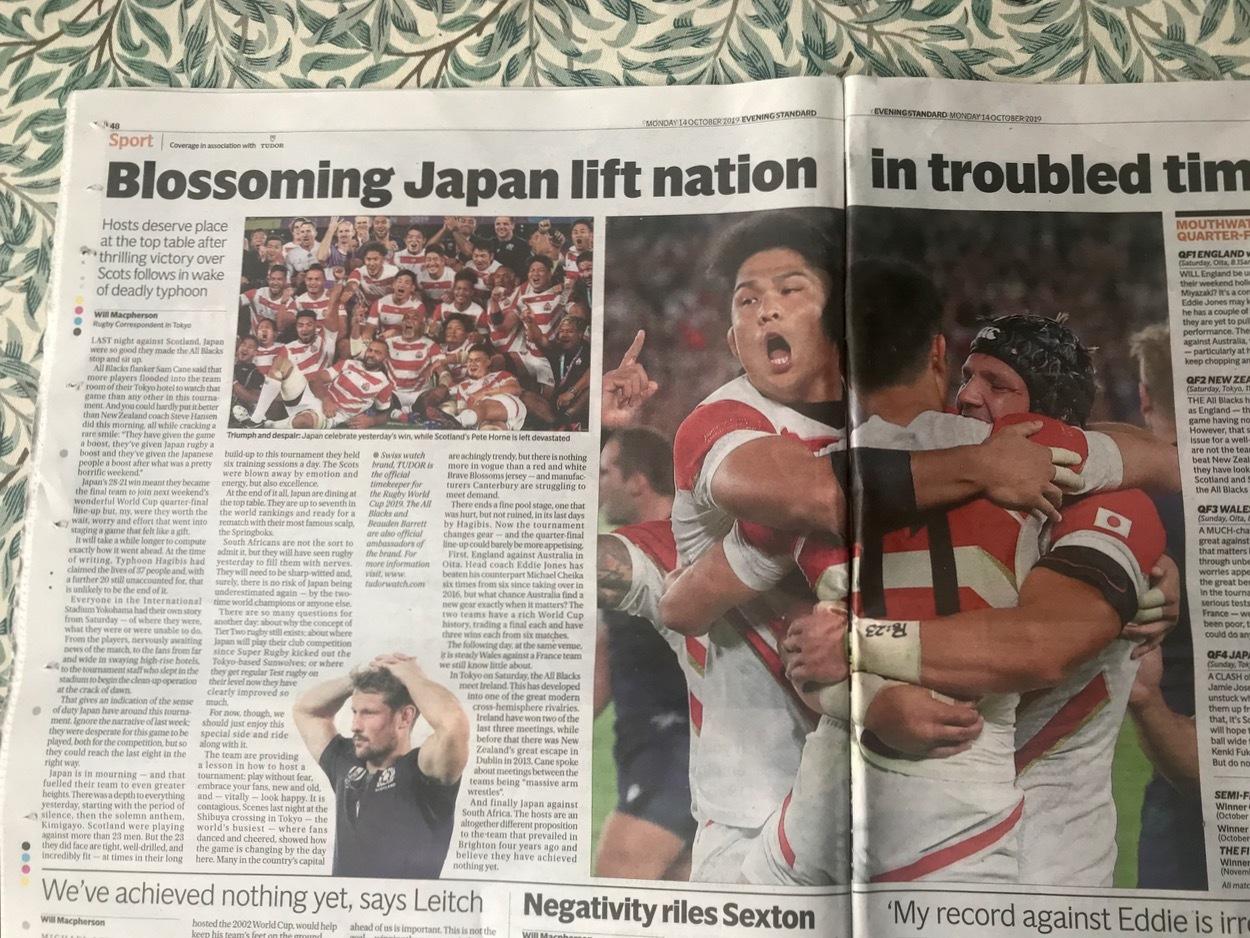 ラグビーW杯での日本の勝利と台風の被害と。複雑な気持ちいろいろ_e0114020_07040344.jpg