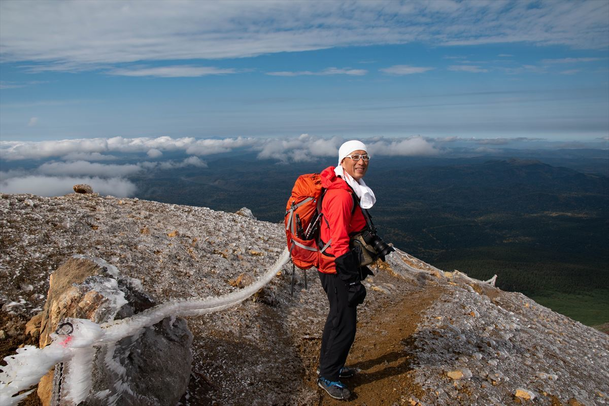 久しぶりに雌阿寒岳の山頂へ!_b0281366_19583000.jpg