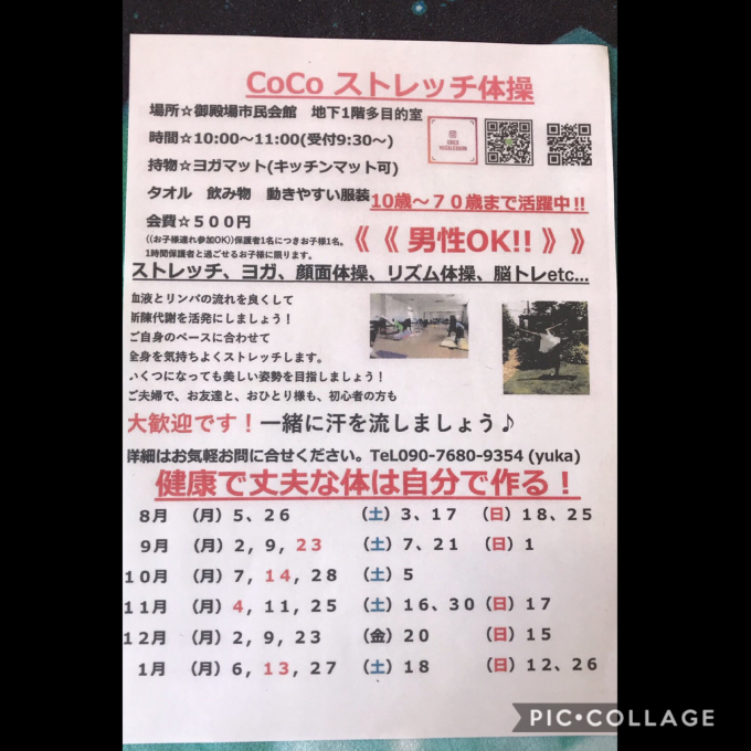 Coco ストレッチ きもちい〜✨_a0134270_19230995.jpg