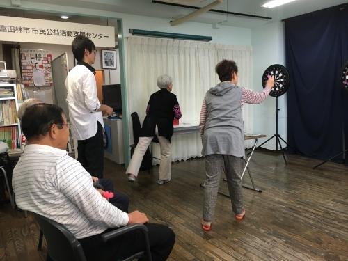 認知症予防教室(ダーツで脳トレーニング)_c0113948_14200203.jpg