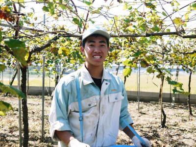 熊本ぶどう 社方園 収穫を終えたぶどう園にお礼肥えです!鹿本農業高校から来た実習生と共に(2019)後編_a0254656_18175829.jpg