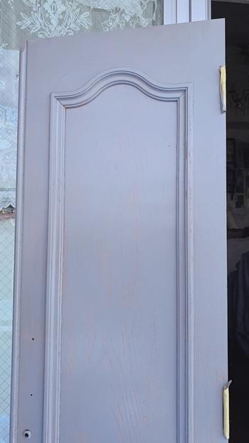 お金のかからないDIY 拾った扉をアンティークドア風にペイント~_e0237680_16130274.jpg