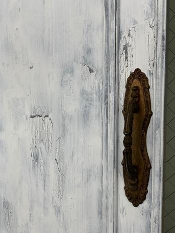 お金のかからないDIY 拾った扉をアンティークドア風にペイント~_e0237680_16163142.jpg