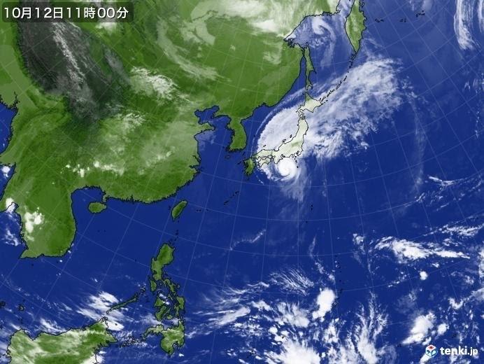 2019.10.13 首長竜のように進んだ台風19号でした。_b0174284_19260282.jpg