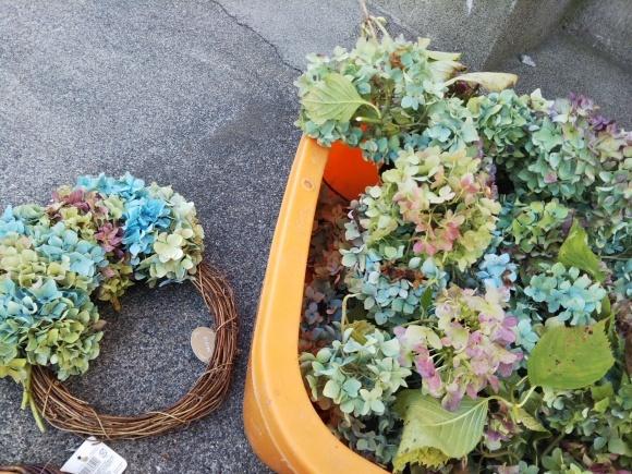 秋の庭整理、リース、雪虫_f0316507_18042280.jpg