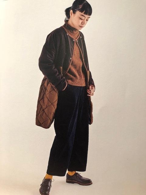 GRANDMA MAMA DAUGHTER  flannel×taffetakilt nocollar coat.&jacket_a0222424_19572906.jpg