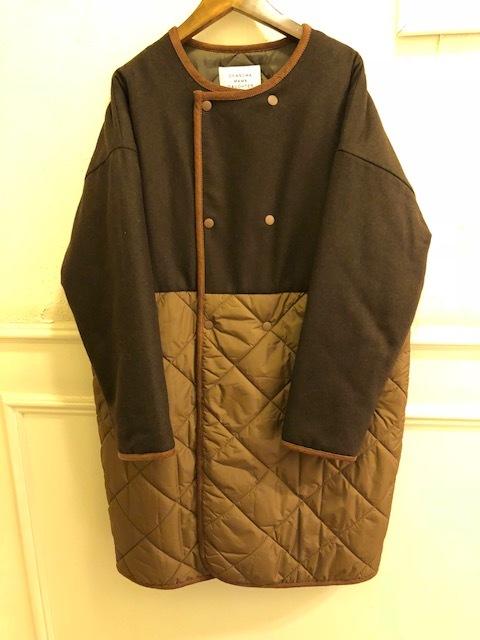 GRANDMA MAMA DAUGHTER  flannel×taffetakilt nocollar coat.&jacket_a0222424_19573699.jpg