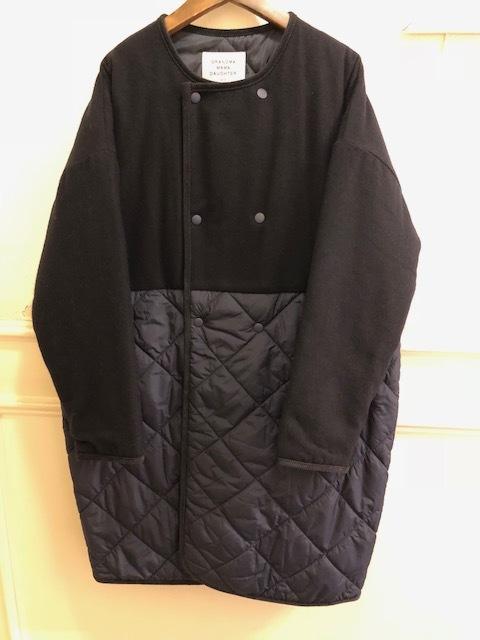GRANDMA MAMA DAUGHTER  flannel×taffetakilt nocollar coat.&jacket_a0222424_19574509.jpg