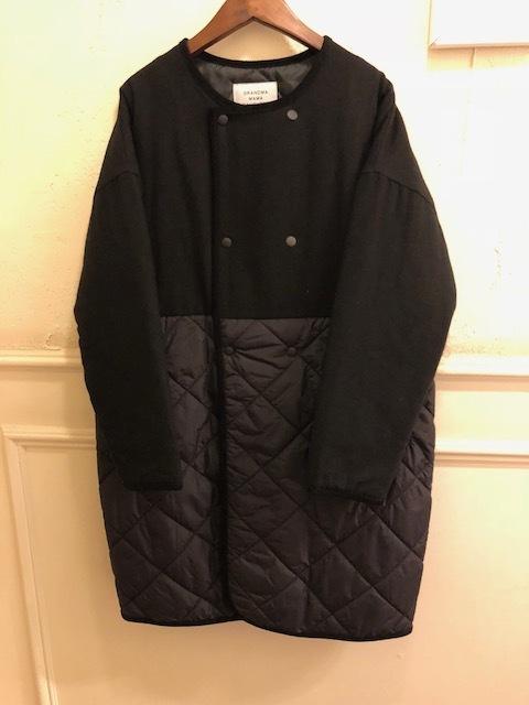 GRANDMA MAMA DAUGHTER  flannel×taffetakilt nocollar coat.&jacket_a0222424_19575118.jpg