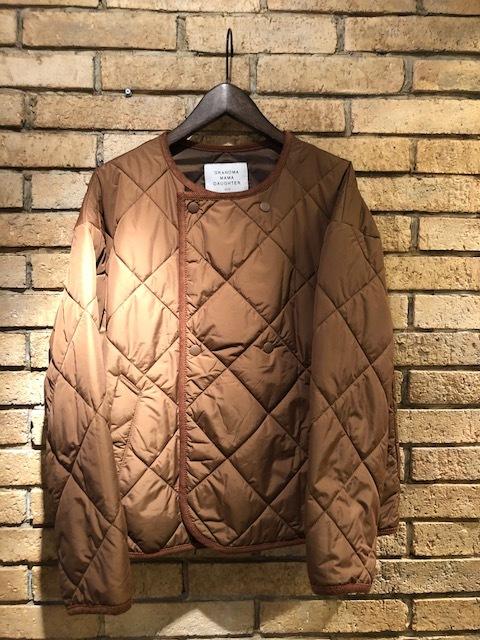 GRANDMA MAMA DAUGHTER  flannel×taffetakilt nocollar coat.&jacket_a0222424_20315748.jpg