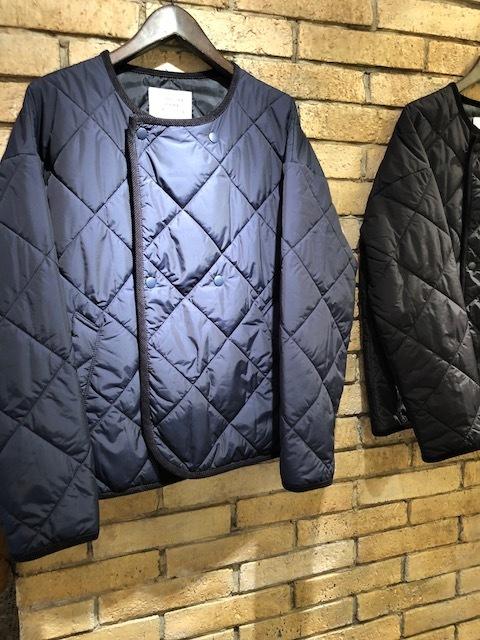 GRANDMA MAMA DAUGHTER  flannel×taffetakilt nocollar coat.&jacket_a0222424_20320459.jpg