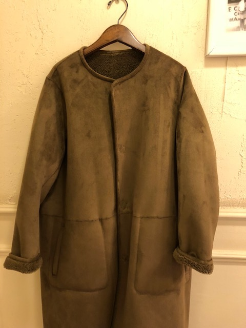 Le Glazik  nocollar fakemouton reversible coat_a0222424_21114284.jpg