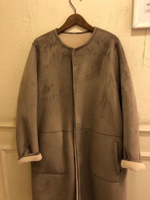 Le Glazik  nocollar fakemouton reversible coat_a0222424_21115172.jpg
