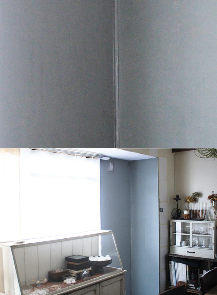 賃貸壁を「モルタル風」にDIYペイント_d0351435_08513554.jpg