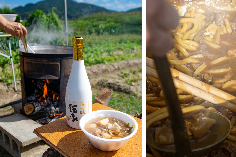 野外で火を起こし、料理して一杯。_b0340837_15455505.jpg