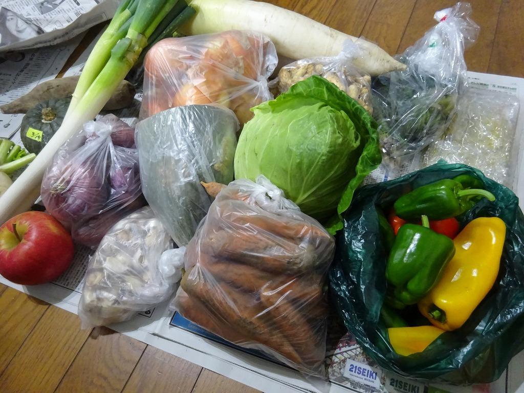 実家からの野菜2019 第四段!さっそくせんべい汁へ投入_d0061678_12424640.jpg