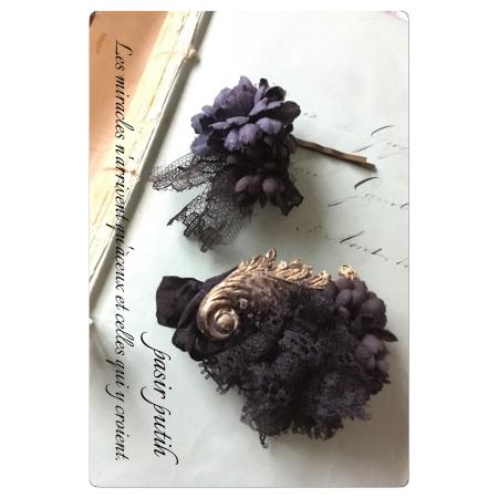 布花 黒花シリーズ 髪飾り_e0231290_16033601.jpg
