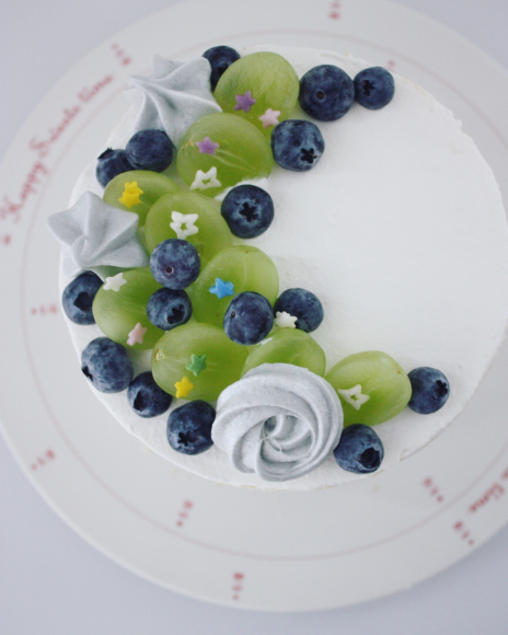 お誕生日のための、ブルーネイキッドケーキ _d0339705_16520669.jpg