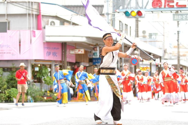 第66回よさこい祭り 本番2日目 愛宕競演場 YAMAKIN EVA連_a0077663_17264153.jpg