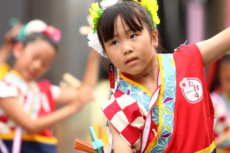 第66回よさこい祭り 本番2日目 愛宕競演場 高須子ども会_a0077663_17295519.jpg
