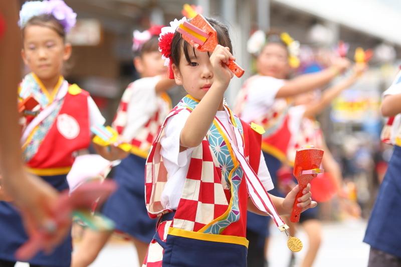 第66回よさこい祭り 本番2日目 愛宕競演場 高須子ども会_a0077663_17295525.jpg