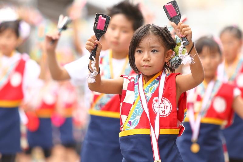 第66回よさこい祭り 本番2日目 愛宕競演場 高須子ども会_a0077663_17295539.jpg