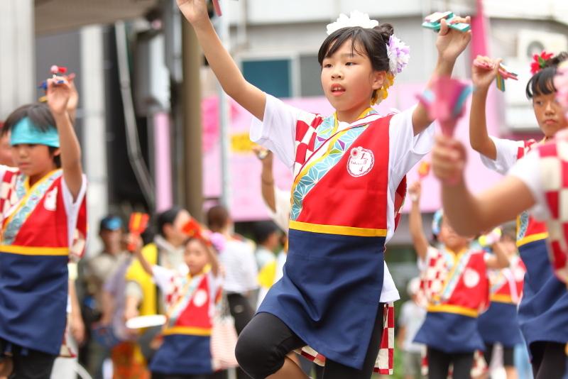 第66回よさこい祭り 本番2日目 愛宕競演場 高須子ども会_a0077663_17295595.jpg