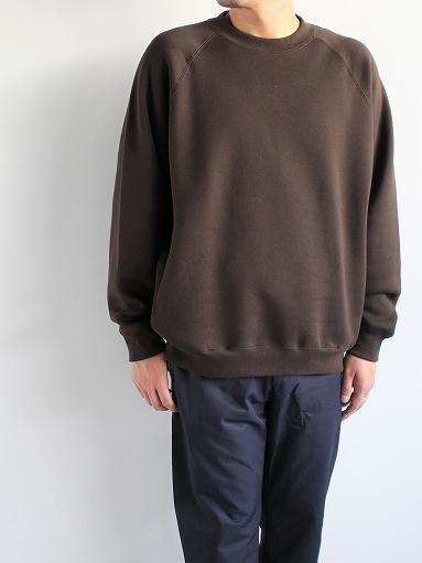 unfil cotton-terry crew neck pullover / dark brown_b0139281_14184514.jpg