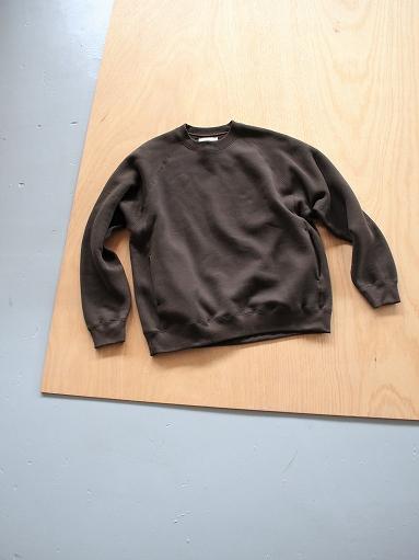 unfil cotton-terry crew neck pullover / dark brown_b0139281_14194041.jpg