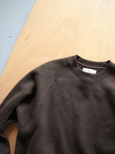 unfil cotton-terry crew neck pullover / dark brown_b0139281_14194738.jpg
