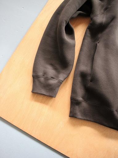 unfil cotton-terry crew neck pullover / dark brown_b0139281_14195448.jpg