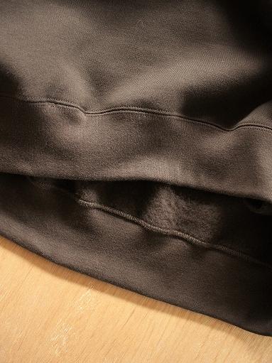 unfil cotton-terry crew neck pullover / dark brown_b0139281_14195887.jpg