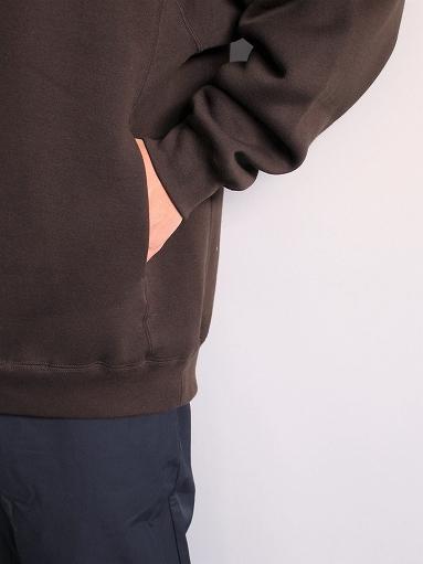 unfil cotton-terry crew neck pullover / dark brown_b0139281_14201293.jpg