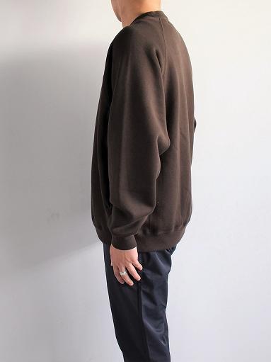 unfil cotton-terry crew neck pullover / dark brown_b0139281_14201797.jpg