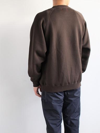 unfil cotton-terry crew neck pullover / dark brown_b0139281_14202299.jpg