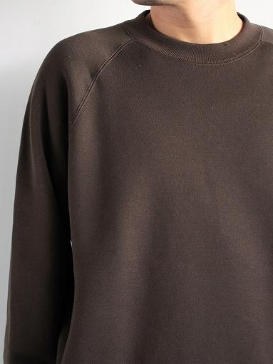 unfil cotton-terry crew neck pullover / dark brown_b0139281_142047.jpg