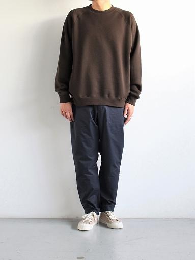 unfil cotton-terry crew neck pullover / dark brown_b0139281_14204763.jpg