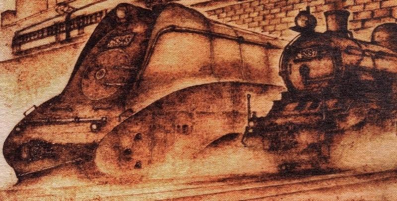 トレインアートから蒸気機関車C53型_f0227828_21104607.jpg