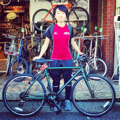 ☆本日のバイシクルガール☆ 自転車女子 自転車ガール ミニベロ クロスバイク ライトウェイ トーキョーバイク シュウイン ラレー ブルーノ おしゃれ自転車 マリン ターン シェファード_b0212032_15182547.jpeg