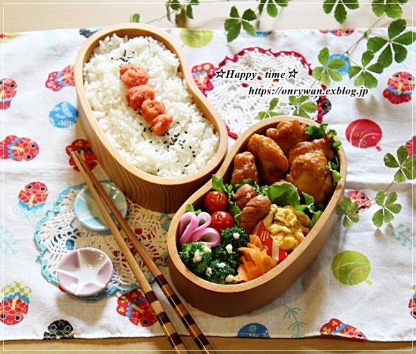 からあげ・明太子弁当と今週の作りおき♪_f0348032_16534339.jpg