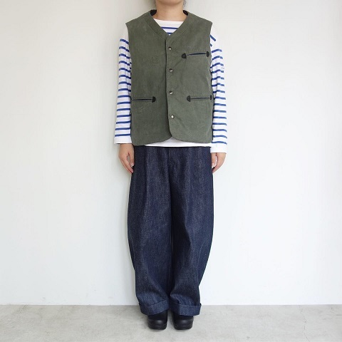 Slow Hands : Recycle tent wide utility quilt vest_a0234452_16540150.jpg
