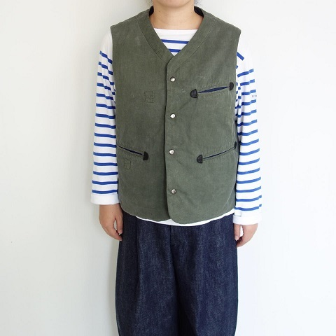 Slow Hands : Recycle tent wide utility quilt vest_a0234452_16540516.jpg