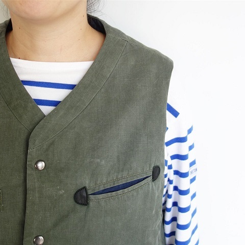 Slow Hands : Recycle tent wide utility quilt vest_a0234452_16541321.jpg