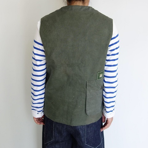 Slow Hands : Recycle tent wide utility quilt vest_a0234452_16541993.jpg