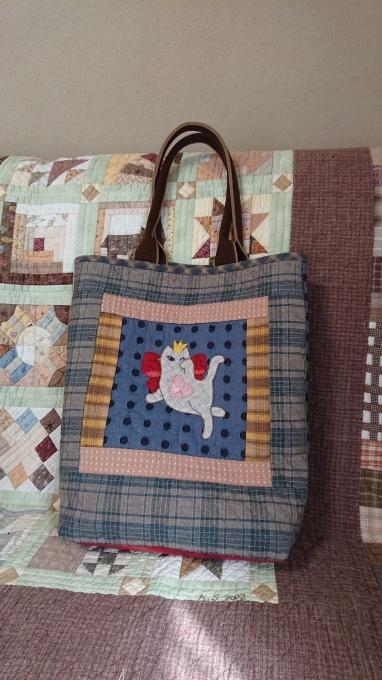 プリンセス招き猫のバッグ完成しました♪_f0374160_21512801.jpg