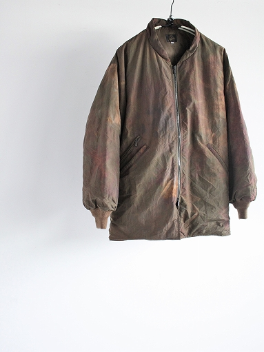 NEEDLES Stand Collar Down Sur Coat - Nylon Tussore / Uneven Dye - Olive_b0139281_12283021.jpg