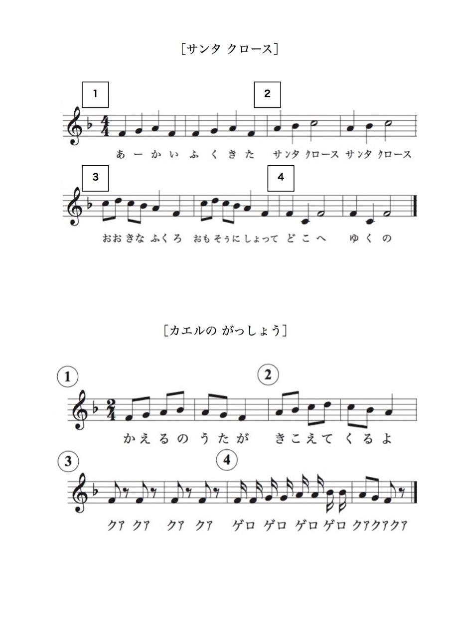 <お母さんと幼児の為の楽典>-33 「旋律聴音への導入」_d0016397_12145395.jpg